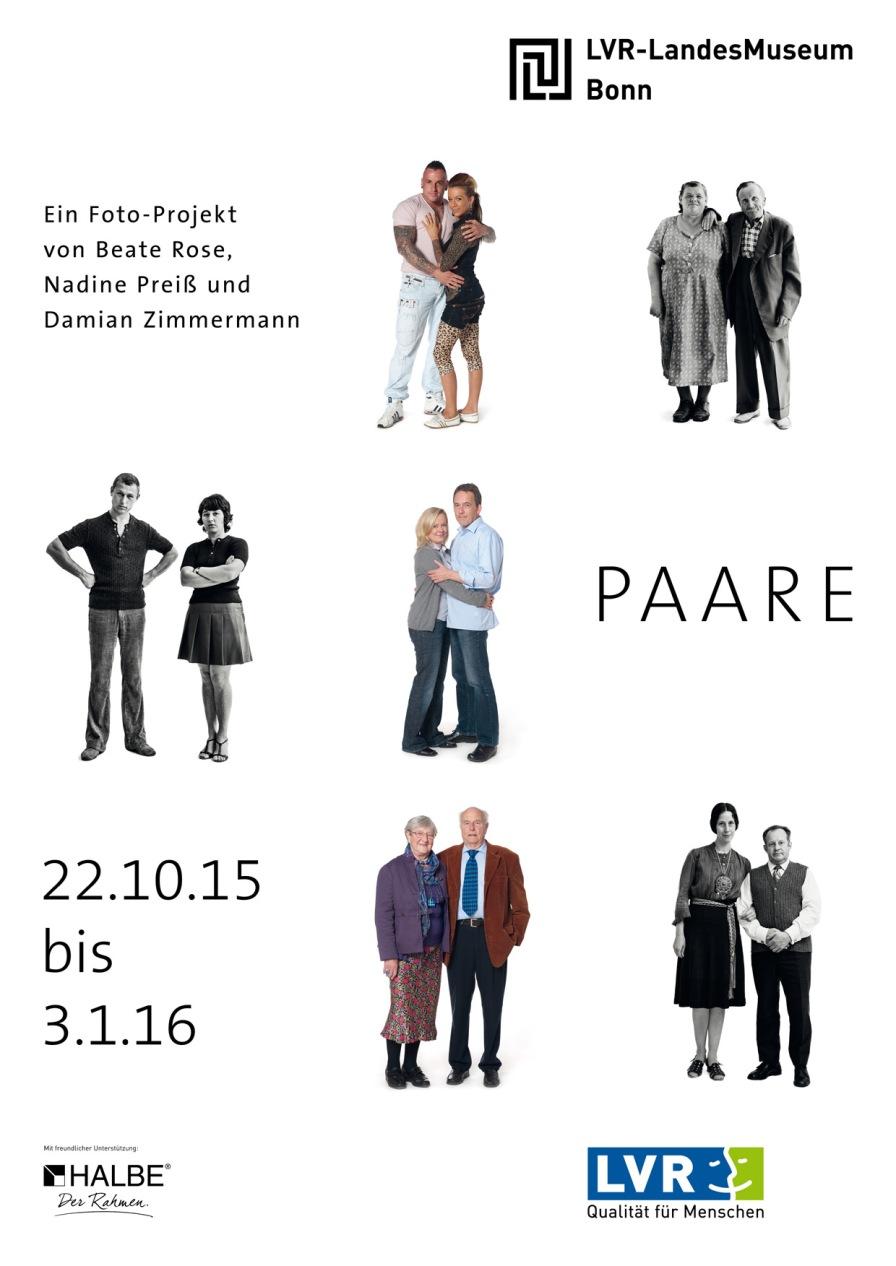 Ausstellungsplakat zur Paare-Ausstellung.