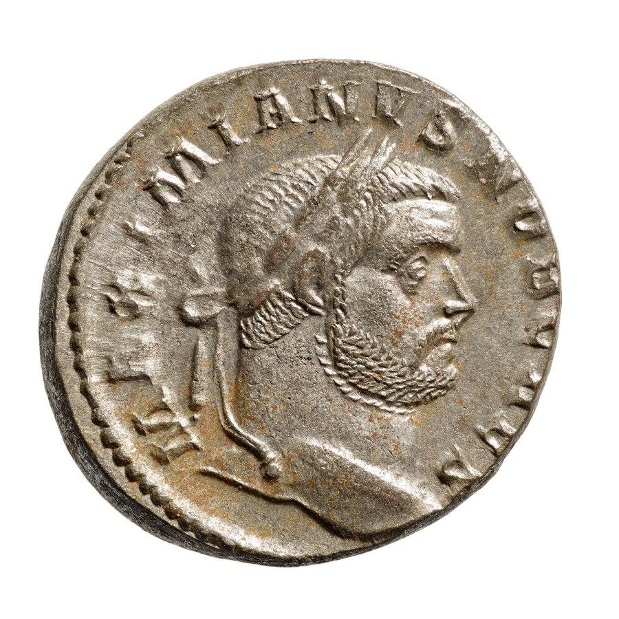 Münze des Maximian Herculius. Foto: Jürgen Vogel, LVR-LandesMuseum Bonn