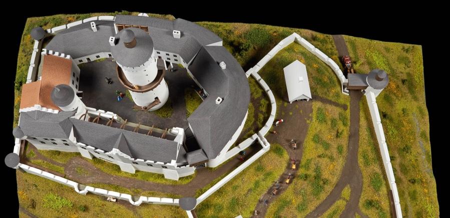 Das Godesburg-Modell von oben. Foto: J. Vogel, LVR-LandesMuseum Bonn.